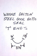 """BOTTOM WEATHER SEAL FOR WAYNE DALTON GARAGE DOORS WITH 1/4""""  """"T"""" ENDS"""