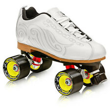 NEW! LABEDA VOODOO U7 WHITE QUAD SPEED ROLLER SKATES MENS sz 7/WOMEN'S 8 Blemish