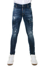 DSQUARED2 DENIM New Man Blue Denim Jeans Pants Made in Italy Original NWT