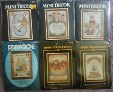 "CHOOSE ONE:PARAGON NEEDLECRAFT VINTAGE COUNTED CROSS STITCH KIT 5"" x 7"" Picture"