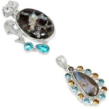 925 sterling silver boulder opal pendant jewelry by jewelexi 9421A