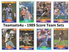 1989 Score Baseball Team Sets ** Pick Your Team Set **