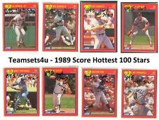 1989 Score Hottest 100 Stars Baseball Set ** Pick Your Team **