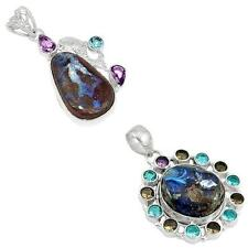 925 sterling silver boulder opal pendant jewelry by jewelexi 2393B
