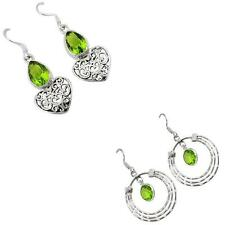 Jewelexi peridot quartz 925 sterling silver earrings handmade jewelry 2788B