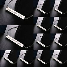 Elegant Each Month stainless Steel Chain Pendant Charm Necklace Friend Gift New