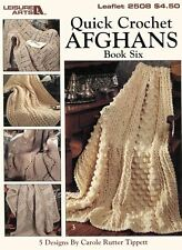 Quick Crochet Afghans Book Six, 5 Fast & Easy 2-strand Afghans crochet patterns