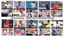 1994 Flair Outfield Power Baseball Set ** Pick Your Team **