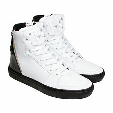 Creative Recreation Adonis Mens White Black Patent Leather Sneakers Shoes