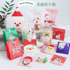 10-50X New Christmas Cello Cellophane Biscuit Sweet Favour Party Gift Bags Boxes