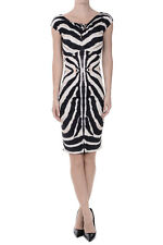 ROBERTO CAVALLI New Woman Printed MultiCOLOR Sleeveless Dress MAde in Italy