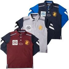 Kids Long Sleeve Polo Shirts Boys Active Sports Childrens Rugby Top Santa Monica