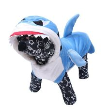 Dog Cat Shark Dress Pet Puppy Hooded Costume Suit Coat Jacket Apparel Clothes