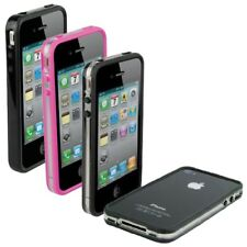 Scosche Protective Polycarbonate Rubber Edge Slim Case Cover for iPhone 4 4S