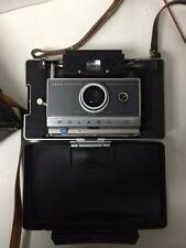 VINTAGE POLAROID AUTOMATIC 100 LAND CAMERA W/ CASE & LOTS OF EXTRA PIECES XX