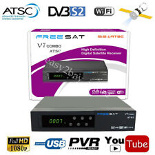 USA Digital Free Local ATSC + HD MPEG-4 DVB-S2 Satellite Receiver Combo TV Tuner