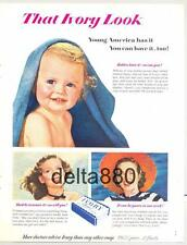 1950 Ivory Soap Original Color Magazine Ad Full Page Ex Cond