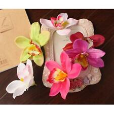 20Pcs Home Decor Artificial Plant Orchid Dendrobium Flower Head Clip DIY Craft