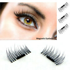 Magnetic 4pcs False Eyelashes Natural 3D Handmade No Glue Extension Eye Lashes