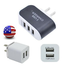 Dual/Triple USB Port Wall Home Travel AC Charger Adapter For Samsung For iPhone