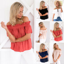 Fashion Sexy Women Off The Shoulder Casual Loose Short Sleeve T-Shirt Top Blouse