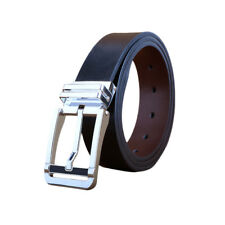 Men Stylish Adjustable Single Pin Smooth Durable Leather Belt