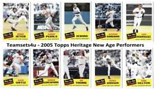 2005 Topps Heritage New Age Performers Baseball Set ** Pick Your Team **