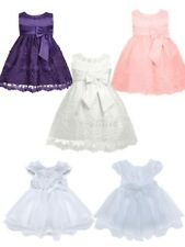 Baby Girl Flower Princess Dress Kid Baby Party Wedding Pageant Formal Dresses