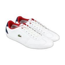 Lacoste Misano Sport 317 1 Mens White Leather Lace Up Lace Up Sneakers Shoes
