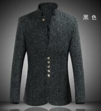 Mens Cool Tang stand collar jacket Chinese style tunic suit coat outwears tops