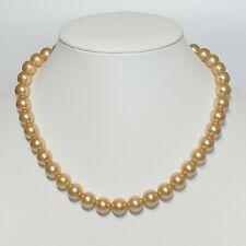 """Gold Floating Shell Pearl Pendant Necklace 16"""" or 18"""" Sterling Silver Chain"""