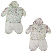 Girls Baby Floral Snow Suit Padded Jacket & Trousers Winter Set 12 to 23 Months