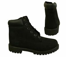 Timberland 6 Inch Classic Lace Up Youths Juniors Leather Black Boots 12907 T1
