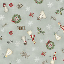 Christmas Whimsy Fabric by Whimsicals Out Of Print Red Rooster Premium Cotton