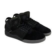Supra Skytop Iii Mens Black Suede High Top Lace Up Trainers Shoes