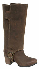 Timberland EK Rudston Conv Womens Boots Brown Leather Pull On 3609R U66