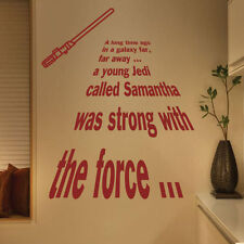 Star Wars A Long Time Ago Personalized Jedi Wall Quotes Stickers Kids Stickers