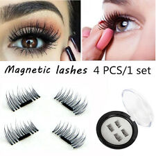1 Pair Magnetic Eyelashes 3D Reusable False Magnet Eye Natural Lashes Extension