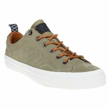 New Mens Converse Green Star Player Premium Suede Ox Trainers Plimsolls Lace Up