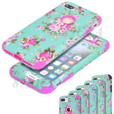 Armor Poney Flower Pattern High Impact Shockproof Hybrid Combo Case For iPhone