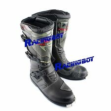 New Racing Motocross Riding Boots Boot Black Mens Adult offroad MX ATV Dirt Bike
