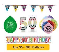 AGE 50 - Happy 50th Birthday Party Banners, Balloons, & Decorations