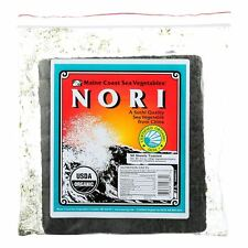 Maine Coast Organic Sea Vegetables - Sushi Nori Sheets - Toasted Chinese - 50 Sh