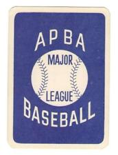 1987 APBA Season Extra Players Only Baseball Team Sets ** Pick Your Team **