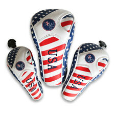 USA AMERICA Flag Golf Headcover Head Cover For Driver Fairway Wood Hybrid Putter