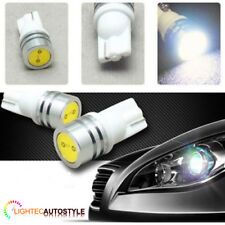 XENON WHITE 1W HIGH POWER LED T10 501 W5W CAPLESS SIDELIGHT BULBS 6000K 8000K