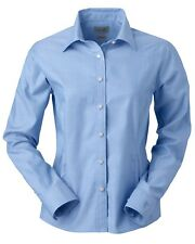 NEW Ashworth Button Up Shirt Top Ladies' EZ-Tech Herringbone Woven 7172C