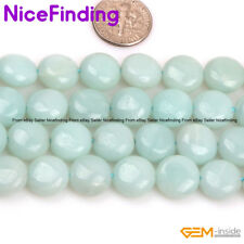 12mm Natural Gemstone Coin Assorted Stone Beads For Jewelry Making Strand 15""