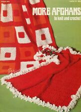 More Afghans ~ Granny Square Ruffled & More Afghans crochet & knit patterns