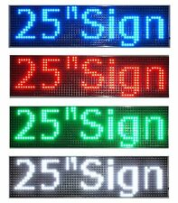 "LED Sign 25""x6.5""Red Green Blue White Amber Scrolling Programmable Message Board"